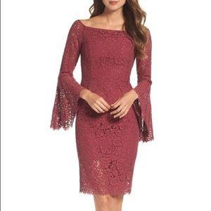 Bardot SOLANGE LACE DRESS Berry Size 4